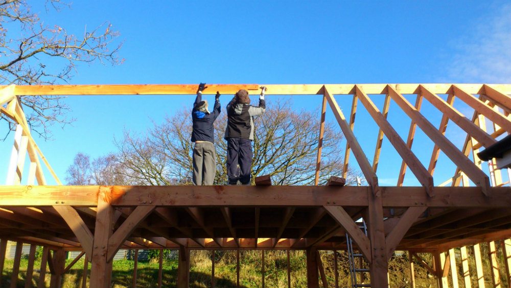 Installing Roof Rafters