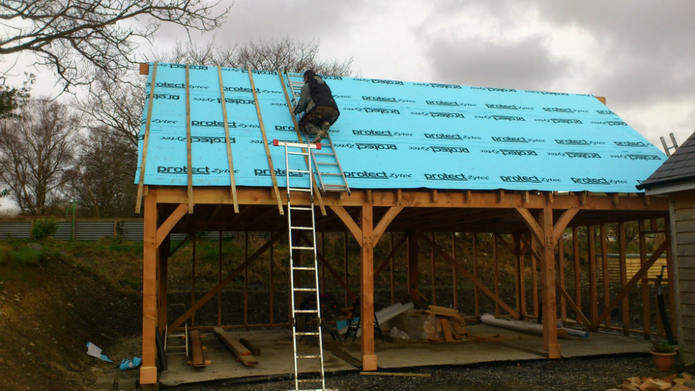 Roof Structure with Membrane