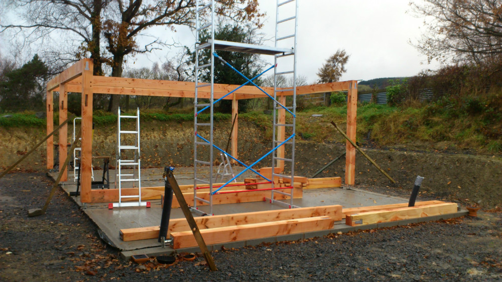 Posts and Beams on Foundations
