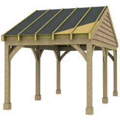 1 Bay Carport with Low Pitch Gable End Roof Sarked