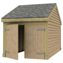 1 Bay Garage with Low Pitch Gable End Roof