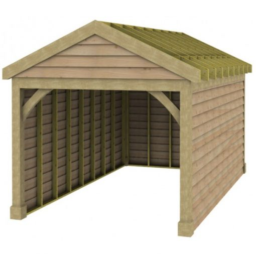 1 Bay Garage with Low Pitch Gable Fronted Roof