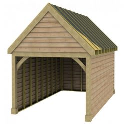 1 Bay Garage with High Pitch Gable Fronted Roof Sarked