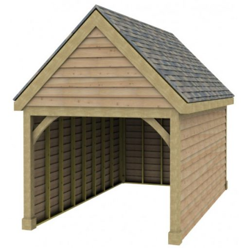 1 Bay Garage with High Pitch Gable Fronted Roof