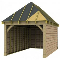 1 Bay Garage with High Pitch Hipped Roof