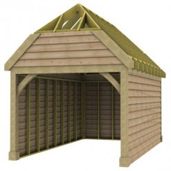1 Bay Garage with High Pitch Barn End Roof