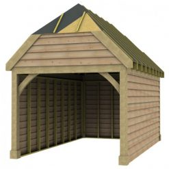 1 Bay Garage with High Pitch Barn End Roof Sarked