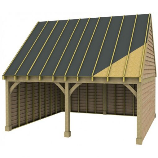 2 Bay Garage with High Pitch Gable End Roof Sarked