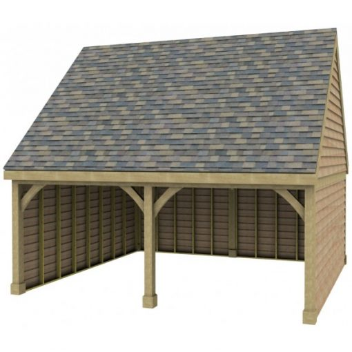 2 Bay Garage with High Pitch Gable End Roof