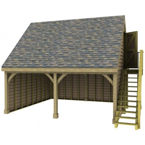 2 Bay Garage with High Pitch Gable End Room in Roof