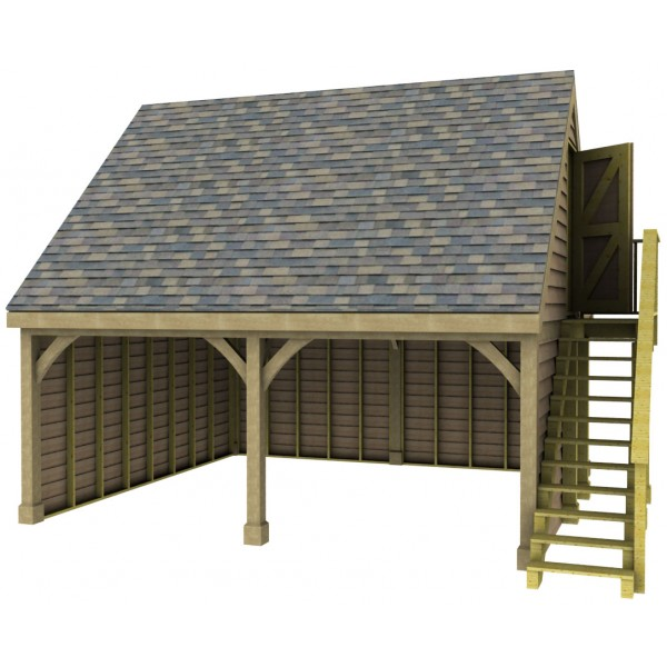 Garage Designs Uk: 2 Bay Garage With High Pitch Gable End Room In Roof