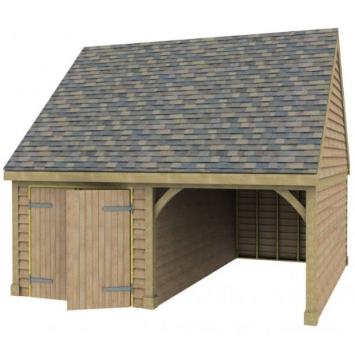 1 Bay Garage with Side Store