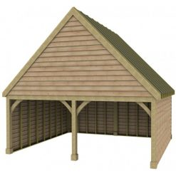 2 Bay Garage with High Pitch Gable Front Roof Sarked