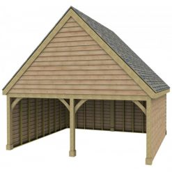 2 Bay Garage with High Pitch Gable Front Roof