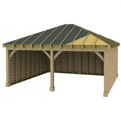 2 Bay Garage with Low Pitch Hipped Roof Sarked