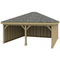 2 Bay Garage with Low Pitch Hipped Roof