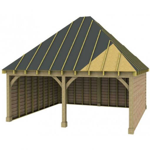 2 Bay Garage with High Pitch Hipped Roof Sarrked
