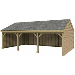 3 Bay Garage with Low Gable End Roof
