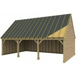 3 Bay Garage with High Pitch Gable End Roof Sarked