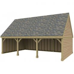 3 Bay Garage with High Pitch Gable End Roof