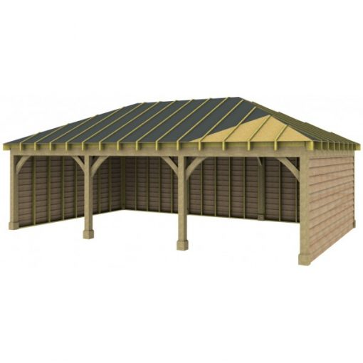 3 Bay Garage with Low Pitch Hipped Roof Sarked