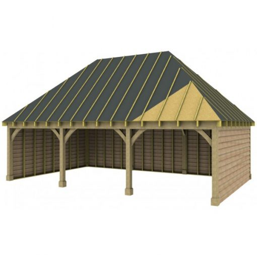 3 Bay Garage with High Pitch Hipped Roof Sarked