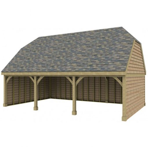 3 Bay Garage with High Pitch Barn End Roof