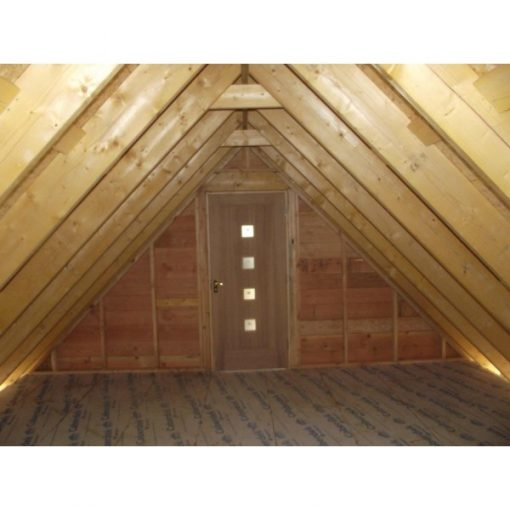 2 Bay Garage with High Pitch Gable End Room in Roof Inside