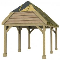 1 Bay Carport with High Pitch Barn End Roof Sarked