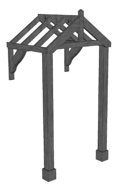 Landsby Timber Porch