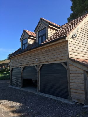 Timber Frame Garage with Raised Eaves