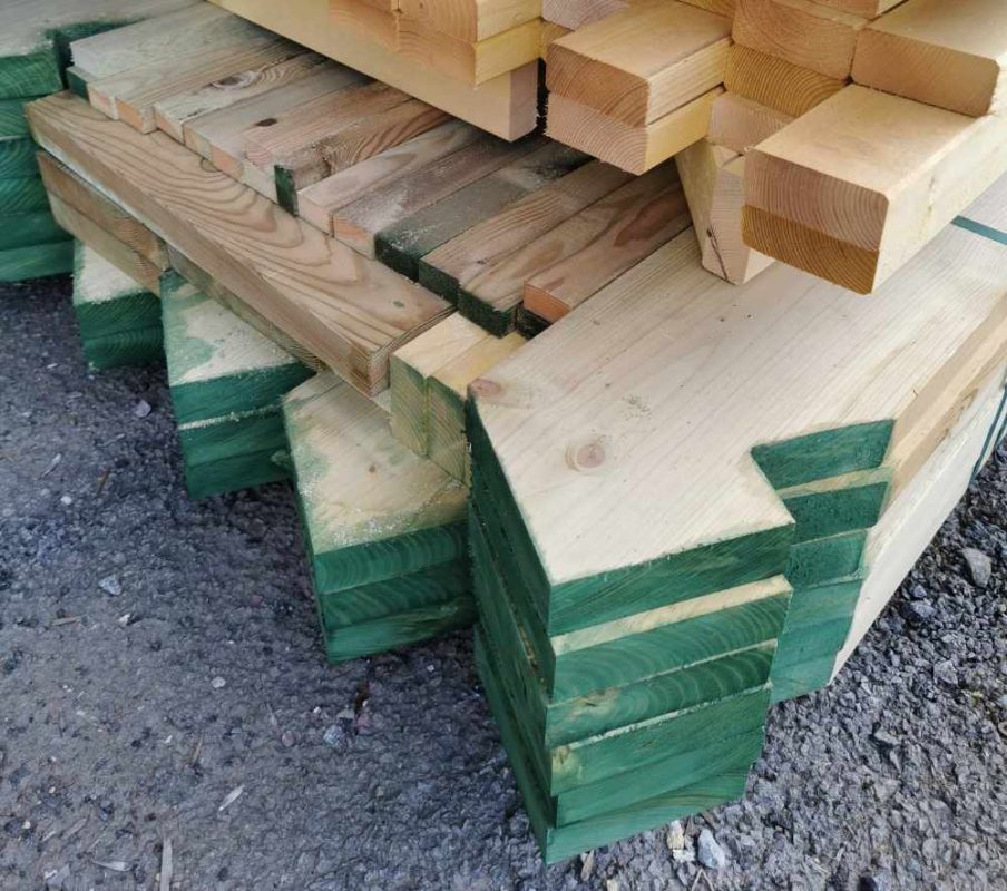 Pre-cut roof timbers
