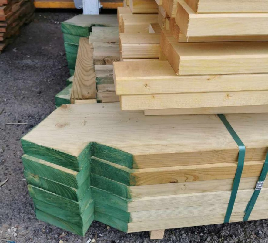 Pre-cut treated roof timbers